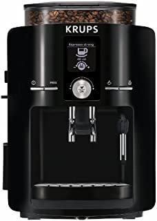KRUPS EA8250 Fully Auto Espresso Machine, Espresso Maker, Burr Grinder, 60 Ounce, Black
