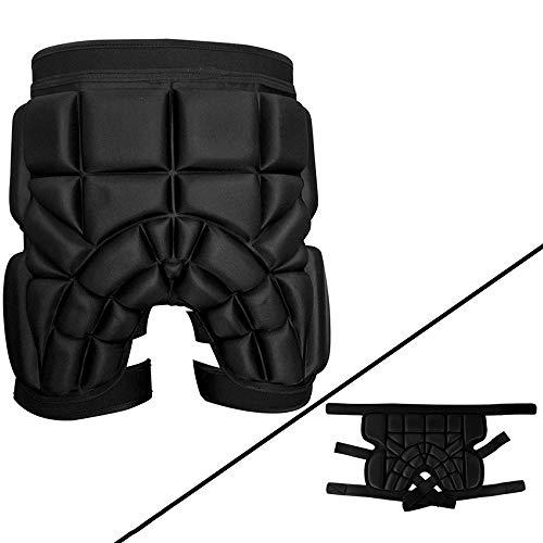 CLL Gesäßschutz - Leichter, weicher und atmungsaktiver Hüftschutz für Ski- / Snowboard- / Unisex-Skating, 65-110 kg
