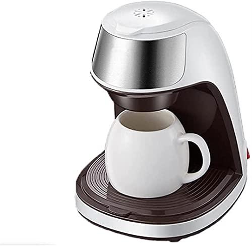 ZFQZKK Ekspres do kawy Strona główna Mały przenośny biurowy Maszyna do parzenia herbaty Drip Typ filtra mini ekspres do kawy (Color : White)