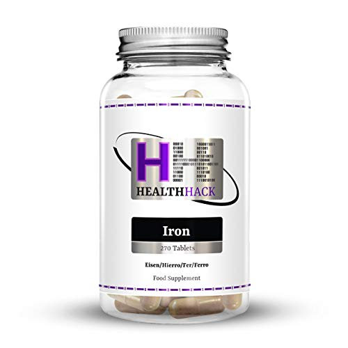 Health Hack - Hierro, 20 mg, 270 comprimidos