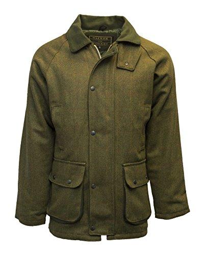 Walker and Hawkes Herren Country-Jacke aus Tweed - für die Jagd geeignet - Dunkles Salbeigrün - Größen XXS bis 5XL