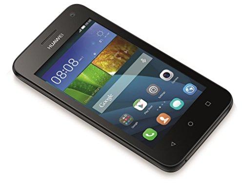 Huawei Y3 Smartphone, Display 4 Pollici IPS, Processore 1,3 GHz Quad-Core, Fotocamera 5 MP, Memoria 4 GB, Android 4.4, Nero