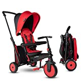 SMARTRIKE STR3 Triciclo Plegable con Carrito Certificado para niños de 1,2,3...