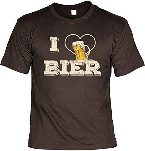 T-Shirt im Set mit Einem Bier Blechschild - I Love Bier & 10 Gründe Warum Bier Besser ist ALS eine Frau