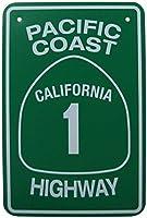 ガレージホームガーデンストアバーカフェ&かわいいの;カリフォルニアハイウェイ道路通りの交通、公園の標識公園ガイドABC警告標識私有地の金属屋外危険標識