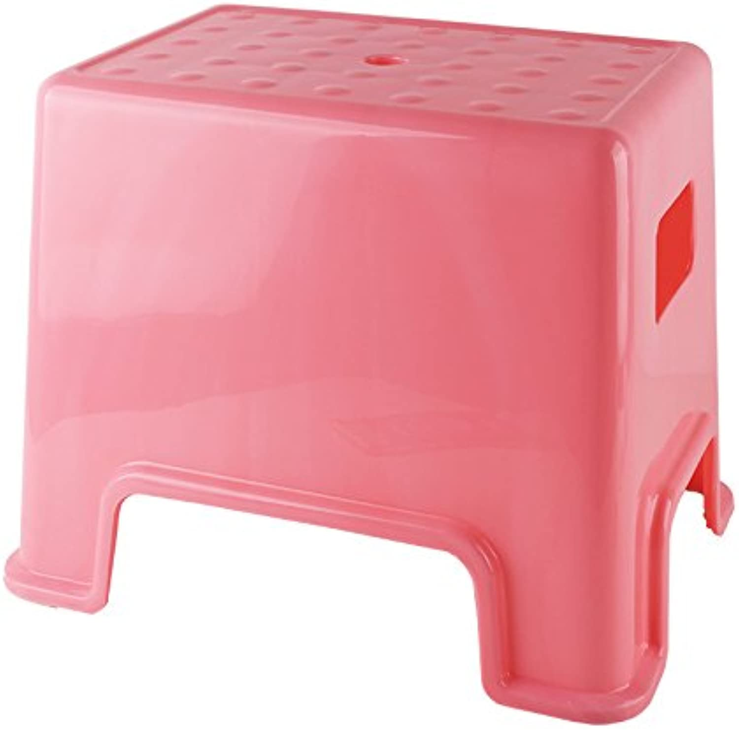 Dana Carrie A plastic stool home thick adult bathroom square bench benches thick low stool in other shoe bench 4PCS, pink ,3222.530CM