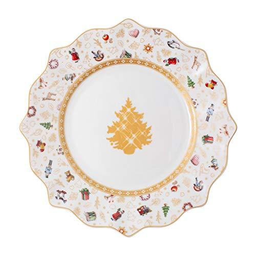 Villeroy & Boch - Toy's Delight Frühstücksteller Jubiläumsedition, Speiseteller aus Premium Porzellan, 24 cm, bunt/gold/weiß