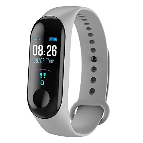 Smart Watch Männer Frauen Herzfrequenz-Monitor Blutdruck Fitness Tracker Smartwatch Sport Smart Clock Uhr für Ios Android China M3x Grau