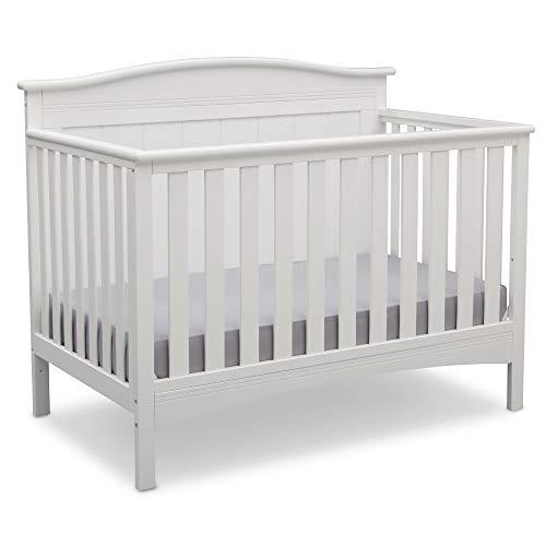Delta Children Bennett 4-in-1 Convertible Baby Crib, Bianca White