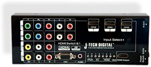 J-Tech Digital JTD-0801 Multi-Functional HDMI Converter with 8 Inputs to 1 HDMI Output