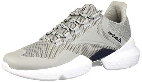 Reebok Women's Split Fuel Running Shoe, True Grey/White/Black/Navy/red, 13