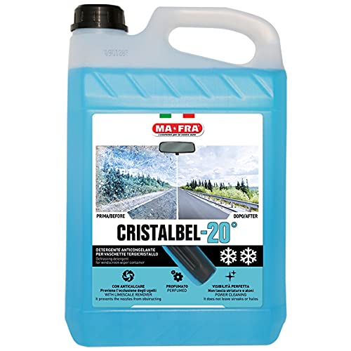 Ma-Fra HC057 Mafra, Cristalbel-20°C, Detergente Anticongelante per Parabrezza, 5000ml