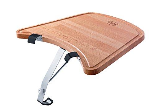 RÖSLE Ablagetisch Kugelgrill, Hochwertiger Buchenholztisch mit Saftrille zum anhängen an den RÖSLE Kohlegrill No.1 F50/F60/F50 AIR/F60 AIR/G60