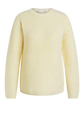 Oui Damen Pullover im sportlichen Look gerade geschnitten Uni Wintermode