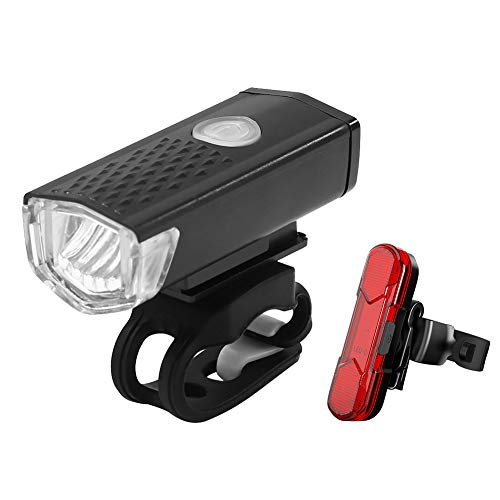 LED Fahrradlicht Set,Fahrradbeleuchtung Set USB Aufladbar,IPX4 Wasserdicht Fahrradlicht Vorne Frontlicht und Rücklicht Set,3 Licht-Modi Fahrradscheinwerfer für Mountainbikes Oder Rennräder