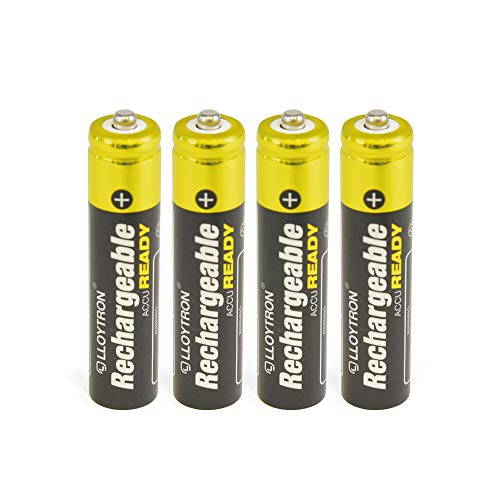 Lloytron AccuReady Lot de 4 Piles AAA 550 mAh Nimh