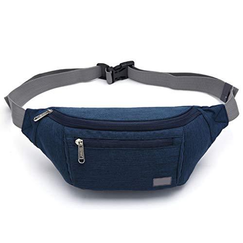 JERKKY heuptas 1 stuk voor heren van nylon riemtas reistas buiktas topcase pouch telefoon blauw