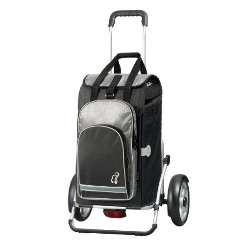 Andersen Shopper Royal Plus mit kugelgelagertem Rad 25 cm und 60 Liter Einkaufstasche Hydro schwarz mit Kühlfach