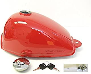 Red Monkey Fuel Gas Tank for Honda Z50 Z50R with Cap, Keys, and Petcock