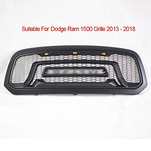 OTQEALY Compatibel met/vervanging voor auto Front Radiator Grille Voor Dodge Ram 1500 Grille 2013-2018, Amerikaanse Pickup Card Front Gezicht Wijziging, Afneembare Letter Sport Grille A