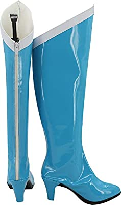 MINGCHUAN Cosplay Boots Shoes for Sailor Moon Mercury Amy Light Blue by MINGCHUAN