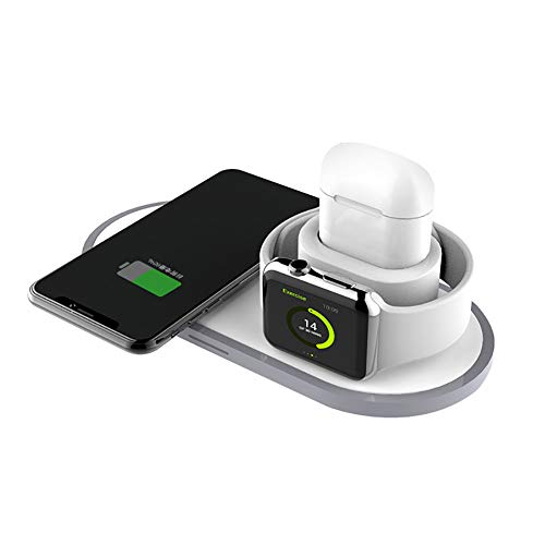 3 in 1 qi ladestation ladegerät zertifiziertes kabelloses Lade-Pad, mit AirPods 2/1/Pro, Apple Watch 5/4/3/2/1, iPhone 11/11 Pro/11 Pro Max Fast Wireless Charger kompatibel