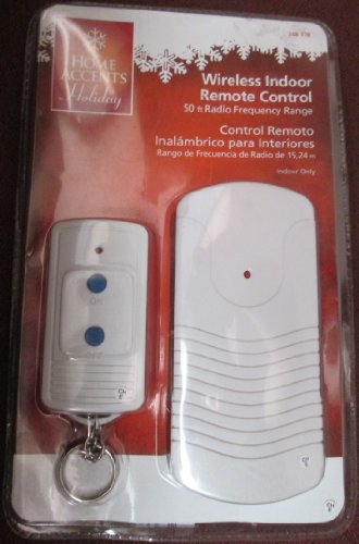 Wireless Indoor Remote Control 50 Ft Radio Frequency Range Controls Lamps and Holiday Lighting