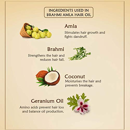 Ancient Living Brahmi & Amla Hair oil enriched with Gerenium essential oil - 50 ml