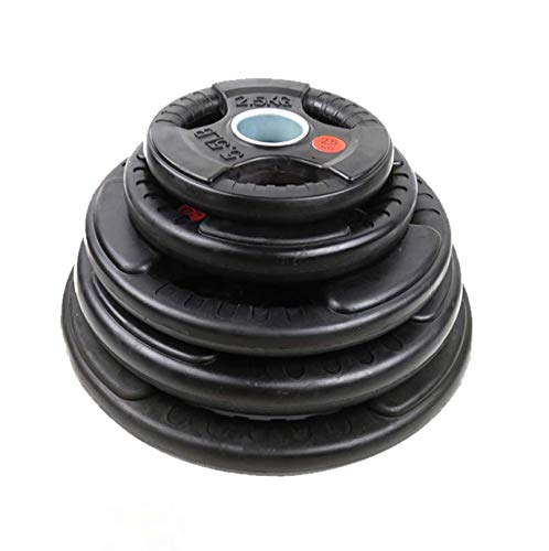 """Auysun Weight Plates Olympic 2""""Cast Iron Rubber Coated Tri Grip 7.5KG 10KG 15KG 20KG Fitness Home Gym"""