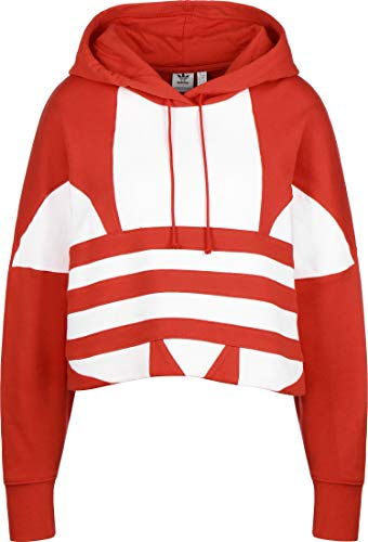 adidas Lrg Logo C-Hood Sudadera, Mujer, Lush Red/White, 42