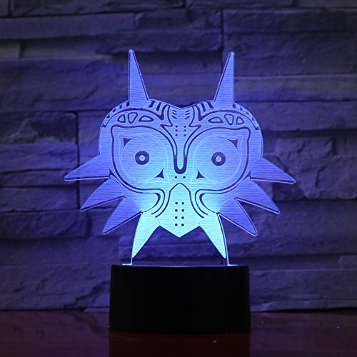 WoloShop Lampara LED The Legend of Zelda Majora's Mask Cambia Color USB Luz Nocturna