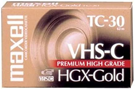 Maxell VHS-C Video Tape Cassette, 30 Minutes