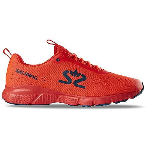 Salming Herren Enroute 3 Schuhe, New orange-Moroccan Blue, US 11.5