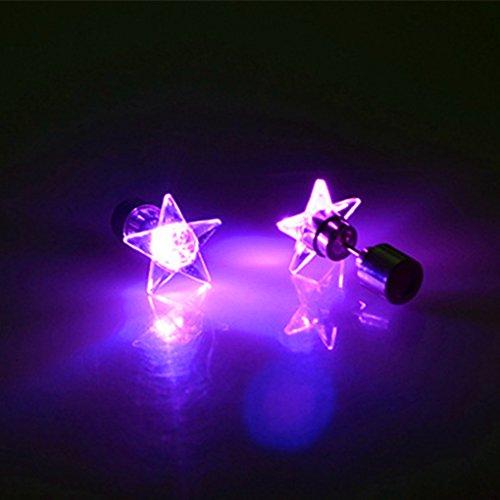 Ranboo Light Up Pendientes LED Dance Party Ear Stud Mujeres Joyas