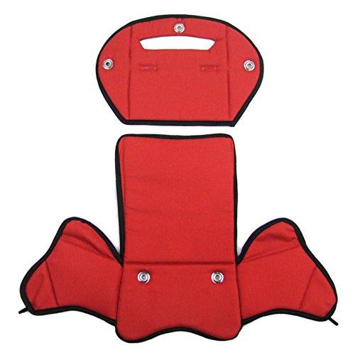 BambiniWelt24 BAMBINIWELT Ersatzbezug, Sitzkissen, Bezug für Fahrradsitz, Modell RÖMER Jockey (Modell 4, meliert) (rot meliert) XX