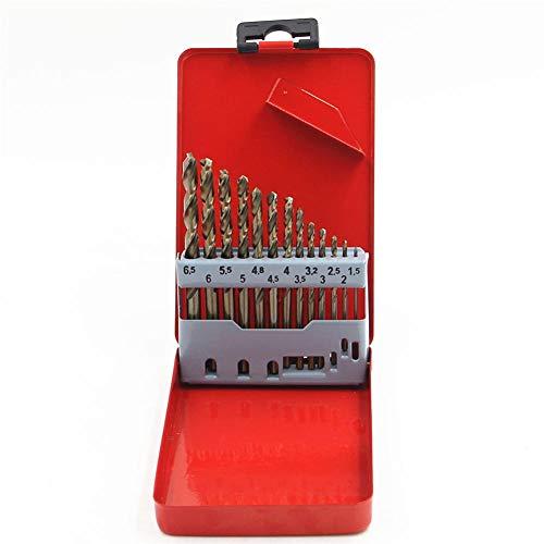 Drill 13Pc M35 Cobalt Hss Fully Ground Straight Shank Twist Drill Bit Set Kit Wood Work Metal Drilling Tool Power Tools