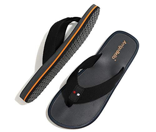 ARRIGO BELLO Chanclas Hombre Flip Flops Verano Playa Piscina Sandalias Al Aire Libre Vacaciones Ducha Gimnasio Cómodo Zapatos Talla 40-46