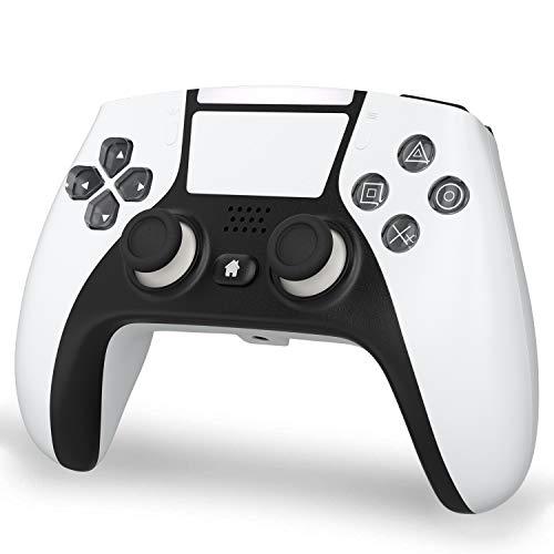 xabern PS4 コントローラー [2021 無線 Bluetooth接続 HD振動 連射 ジャイロセンサー ゲームパット搭載 高耐久ボタン イヤホンジャック スピーカー PS4pro/slim/WIN 7/8/10 対応ps4 ゲームパッド bluetooth PCゲーム playstation