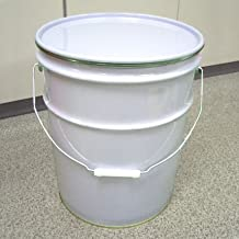 ペール缶 20L鉄製 内面金ニス塗装 オープン(蓋・外レバーバンド付)p22a