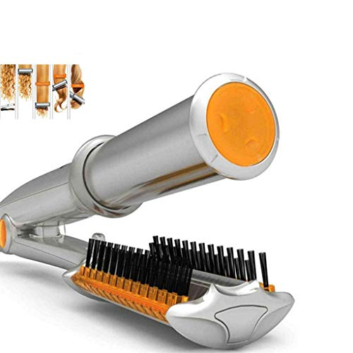 YQ&TL Hair Curler Ceramics Temperature Control Dry and Wet Hairbrush Rotating Iron Curling Tongs 2 in 1