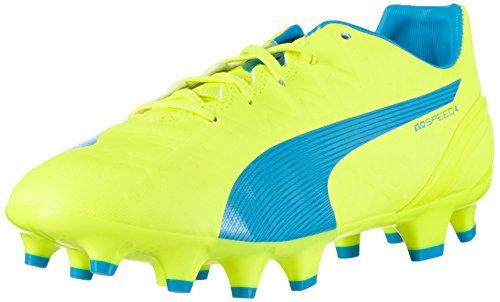 Puma Unisex-Kinder evoSPEED 4.4 FG Jr Fußballschuhe, Gelb (safety yellow-atomic blue-white 04), 35 EU