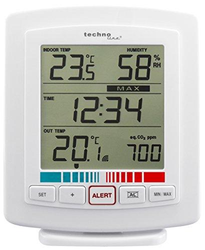 Mobile Alerts WL 2000, Wetterstation, Luftgütemonitor, in Verbindung mit dem Gatway: Datenübertragung auf das Smartphone, 13,5 x 6,5 x 16,5 cm