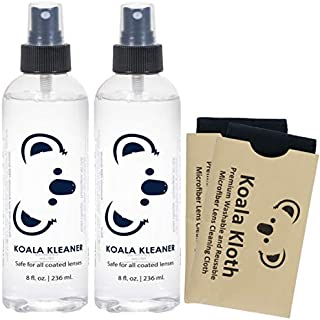 Koala Kleaner Alcohol Free Eyeglass Lens Cleaner Spray Care Kit | 16oz + 2 Cloths | Safe for Cleaning All Lenses and Screens