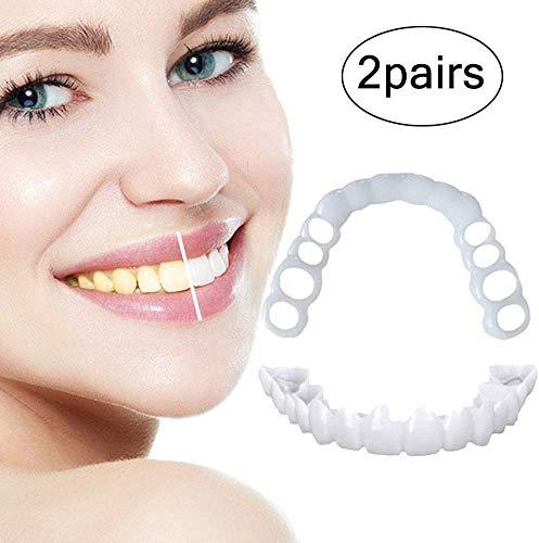 ZYXBJ perfekte Lächeln auf der Ober- und Unterseite der Furnierzähne, die Bequeme Passform und der Neue Druckknopf am Gummizug passen zu den bequemsten Zahnspangen