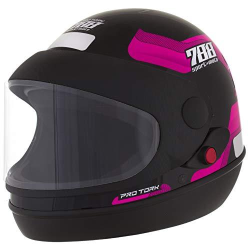 Pro Tork Capacete Sport Moto 788 58 Preto/Rosa