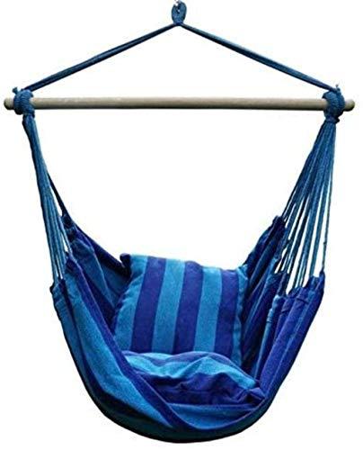 Hamaca Silla oscilación Colgante y 2 Cojines, jardín al Aire Libre Hamaca for Adultos de los niños Silla Colgante Columpio for la Cama WKY