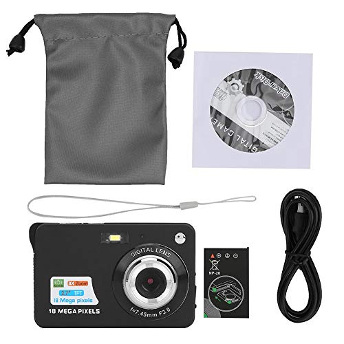8x zoomkaart Digitale camera 2,7 inch TFT LCD-scherm draagbare 18 MP 32 GB geheugenkaart Ingebouwde microfoon(zwart)