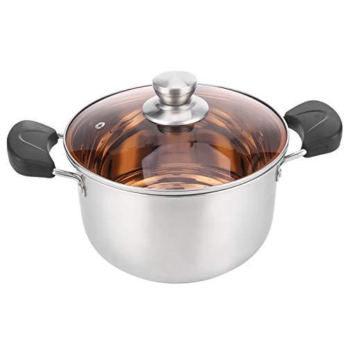 Asixxsix Olla de complemento alimenticio, Olla de Sopa pequeña, Tapa de Visibilidad Diseño ergonómico para cocinas Huevos hervidos