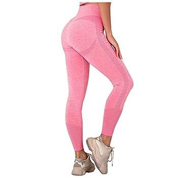 Womens High Waist Yoga Pants High-Waist Tummy Control Scrunched Booty Leggings Workout Running Butt Lift Textured Tights