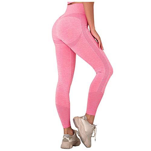 Womens High Waist Yoga Pants High-Waist Tummy Control Scrunched Booty...